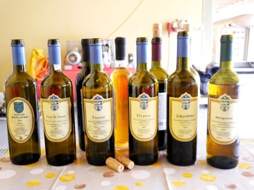 Gamme des vins