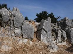 Les rochers du Mont Aenos